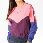 /achat-sweats-col-rond-crewneck/champion-sweat-crewneck-femme-112550-rose-violet-bleu-199711.html
