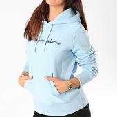 /achat-sweats-capuche/champion-sweat-capuche-femme-big-script-111555-bleu-ciel-199742.html