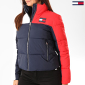 /achat-doudounes/tommy-jeans-doudoune-femme-tricolore-colorblock-7365-bleu-marine-rouge-blanc-199689.html