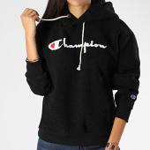 /achat-sweats-capuche/champion-sweat-capuche-femme-polaire-112253-noir-199847.html