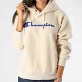 /achat-sweats-capuche/champion-sweat-capuche-femme-polaire-112253-beige-199848.html