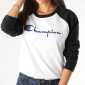 /achat-t-shirts/champion-tee-shirt-manches-longues-femme-112538-blanc-noir-199850.html