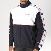 /achat-vestes/champion-veste-zippee-a-bandes-214050-blanc-bleu-marine-199863.html