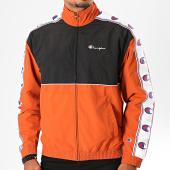 /achat-vestes/champion-veste-zippee-a-bandes-214050-marron-noir-blanc-199866.html