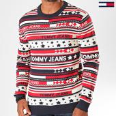 /achat-pulls/tommy-hilfiger-jeans-pull-americana-stripe-6995-bleu-marine-beige-rouge-199784.html