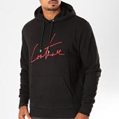 /achat-sweats-capuche/the-couture-club-sweat-capuche-essentials-m2218-noir-rouge-199935.html