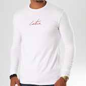 /achat-t-shirts/the-couture-club-tee-shirt-manches-longues-tccm18-blanc-rouge-199939.html