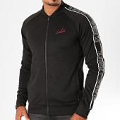 /achat-vestes/the-couture-club-veste-zippee-a-bandes-satin-track-tccm183-noir-blanc-199945.html