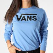 /achat-t-shirts-manches-longues/vans-tee-shirt-femme-manches-longues-bleu-clair-noir-199958.html