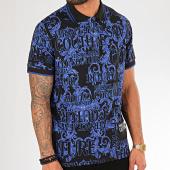 /achat-polos-manches-courtes/versace-jeans-couture-polo-manches-courtes-renaissance-uum622-print-b3gub7p1-noir-bleu-roi-199975.html