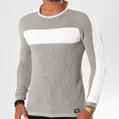 /achat-pulls/paname-brothers-pull-017a-gris-chine-blanc-200043.html