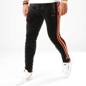 /achat-pantalons-joggings/project-x-pantalon-jogging-velours-a-bandes-1940050-noir-orange-fluo-200076.html