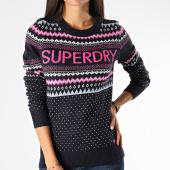 /achat-pulls/superdry-pull-femme-oslo-fairisle-jumper-w6100020a-bleu-marine-rose-200093.html