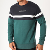 /achat-sweats-col-rond-crewneck/jack-and-jones-sweat-crewneck-caine-vert-bleu-marine-200235.html