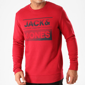 /achat-sweats-col-rond-crewneck/jack-and-jones-sweat-crewneck-sead-rouge-200240.html