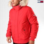 /achat-doudounes/tommy-hilfiger-jeans-doudoune-fourrure-tech-6906-rouge-beige-200139.html
