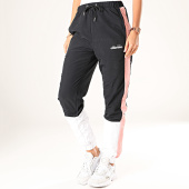 /achat-pantalons-joggings/ellesse-pantalon-jogging-femme-a-bandes-tutti-sdg08014-noir-blanc-rose-200262.html