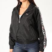 /achat-vestes/fila-veste-zippee-capuche-femme-a-bandes-tilda-682323-noir-200338.html