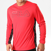 /achat-t-shirts-manches-longues/fila-tee-shirt-manches-longues-atos-682823-rouge-noir-200349.html