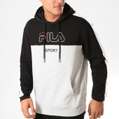 /achat-sweats-capuche/fila-sweat-capuche-a-bandes-willow-682858-noir-gris-chine-200380.html
