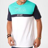 /achat-t-shirts/fila-tee-shirt-manning-block-682859-blanc-vert-200384.html