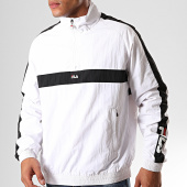/achat-sweats-col-zippe/fila-sweat-col-zippe-a-bandes-jona-687032-blanc-noir-200437.html
