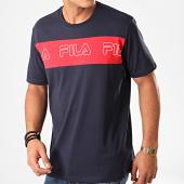 /achat-t-shirts/fila-tee-shirt-aki-logo-687129-bleu-marine-rouge-200450.html