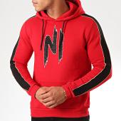 /achat-sweats-capuche/ninho-sweat-capuche-a-bandes-avec-strass-h001-rouge-noir-200331.html