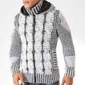 /achat-cardigans-gilets/classic-series-gilet-zippe-capuche-2003-blanc-noir-200498.html