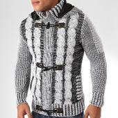 /achat-cardigans-gilets/classic-series-gilet-capuche-1018-blanc-noir-200508.html