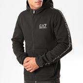/achat-sweats-zippes-capuche/ea7-sweat-zippe-capuche-a-bandes-6gpm32-pj07z-noir-argente-200572.html