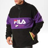 /achat-sweats-col-zippe/fila-sweat-col-zippe-reijo-687247-noir-violet-200470.html