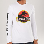 /achat-t-shirts-manches-longues/jurassic-park-tee-shirt-manches-longues-original-logo-blanc-200551.html