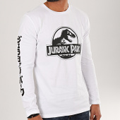 /achat-t-shirts-manches-longues/jurassic-park-tee-shirt-manches-longues-logo-black-and-white-blanc-200560.html