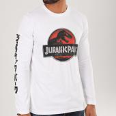 /achat-t-shirts-manches-longues/jurassic-park-tee-shirt-manches-longues-logo-3d-blanc-200561.html