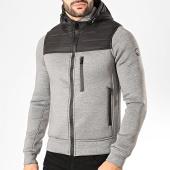 /achat-vestes/la-maison-blaggio-veste-zippee-capuche-jerry-gris-chine-noir-200485.html