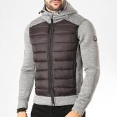 /achat-vestes/la-maison-blaggio-veste-zippee-capuche-fox-gris-chine-noir-200495.html