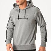 /achat-sweats-capuche/redskins-sweat-capuche-avec-bandes-mitra-loft-gris-chine-noir-200591.html