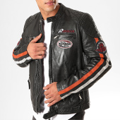 /achat-vestes-cuir/redskins-veste-en-cuir-a-bandes-rafter-calista-noir-200594.html