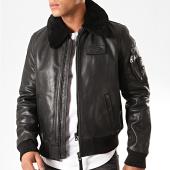 /achat-vestes-cuir/redskins-veste-en-cuir-col-mouton-commander-stricking-noir-200635.html