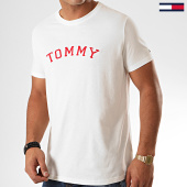 /achat-t-shirts/tommy-hilfiger-jeans-tee-shirt-cn-logo-1623-blanc-casse-rouge-200521.html