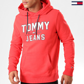 /achat-sweats-capuche/tommy-hilfiger-jeans-sweat-capuche-essential-1985-logo-7025-rouge-200579.html