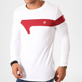 /achat-t-shirts-manches-longues/g-star-tee-shirt-manches-longues-graphic-13-d15630-336-blanc-200769.html