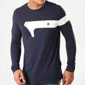 /achat-t-shirts-manches-longues/g-star-tee-shirt-manches-longues-graphic-13-d15630-336-bleu-marine-200771.html