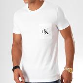 /achat-t-shirts-poche/calvin-klein-jeans-tee-shirt-poche-slim-monogram-5578-blanc-200978.html