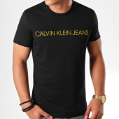 /achat-t-shirts/calvin-klein-jeans-tee-shirt-slim-institutional-logo-5577-noir-dore-200985.html