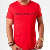 /achat-t-shirts/calvin-klein-jeans-tee-shirt-slim-institutional-logo-5577-rouge-200997.html