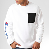 /achat-sweats-col-rond-crewneck/champion-sweat-crewneck-213722-blanc-200942.html