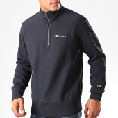 /achat-sweats-col-zippe/champion-sweat-col-zippe-214051-bleu-marine-200948.html