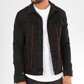 /achat-vestes-jean/classic-series-veste-jean-2802-noir-rouge-200939.html